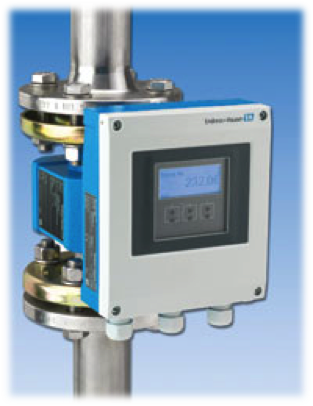Endress Hauser Promag 400 flow meter transmitter with a Rapidlogger system